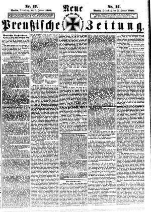 Neue preußische Zeitung vom 21.01.1868