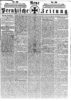 Neue preußische Zeitung vom 23.01.1868