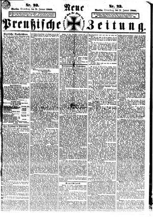 Neue preußische Zeitung vom 28.01.1868