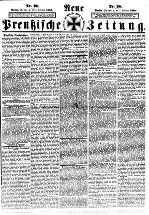 Neue preußische Zeitung vom 02.02.1868