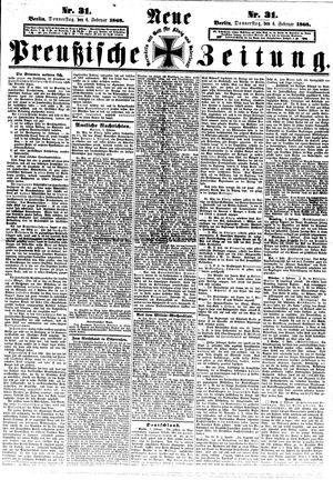 Neue preußische Zeitung on Feb 6, 1868