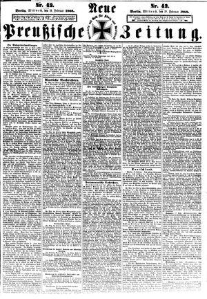 Neue preußische Zeitung vom 19.02.1868