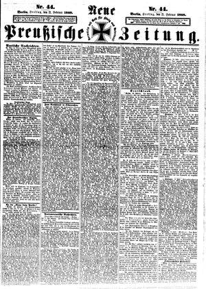 Neue preußische Zeitung vom 21.02.1868