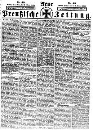 Neue preußische Zeitung vom 22.02.1868