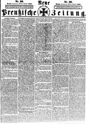 Neue preußische Zeitung vom 23.02.1868