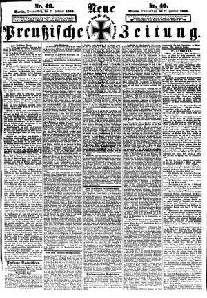 Neue preußische Zeitung vom 27.02.1868