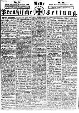 Neue preußische Zeitung vom 29.02.1868