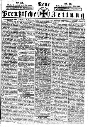 Neue preußische Zeitung vom 07.03.1868