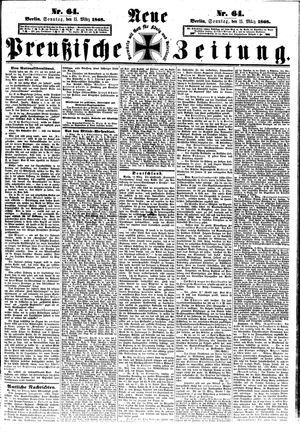 Neue preußische Zeitung vom 15.03.1868
