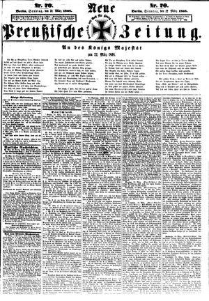 Neue preußische Zeitung vom 22.03.1868