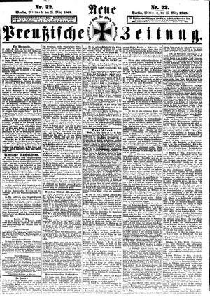 Neue preußische Zeitung vom 25.03.1868