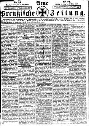 Neue preußische Zeitung vom 27.03.1868