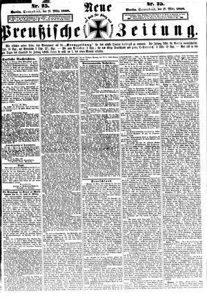 Neue preußische Zeitung on Mar 28, 1868