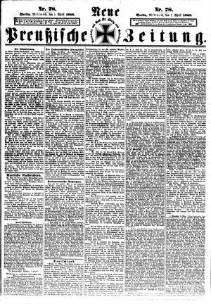 Neue preußische Zeitung vom 01.04.1868
