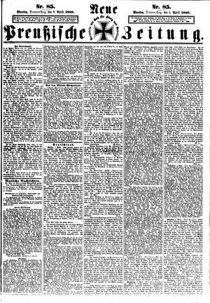 Neue preußische Zeitung on Apr 9, 1868