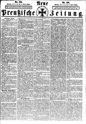 Neue preußische Zeitung vom 15.04.1868