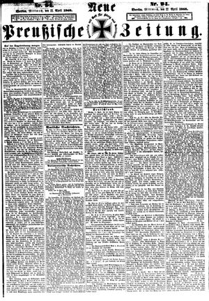 Neue preußische Zeitung vom 22.04.1868