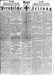 Neue Preußische Zeitung (25.04.1868)