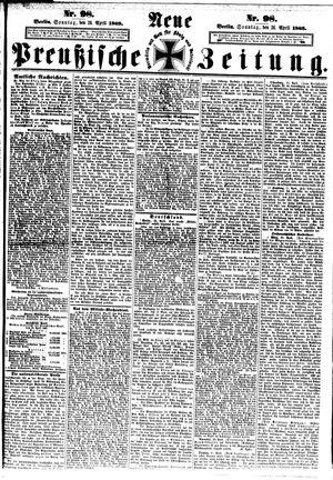 Neue preußische Zeitung vom 26.04.1868