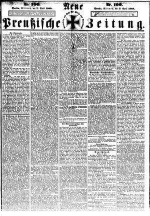 Neue preußische Zeitung on Apr 29, 1868