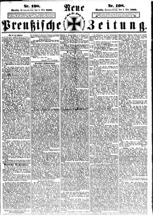 Neue preußische Zeitung vom 09.05.1868