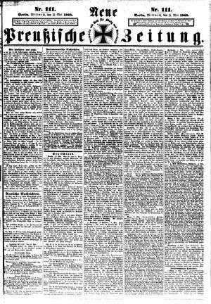 Neue preußische Zeitung vom 13.05.1868