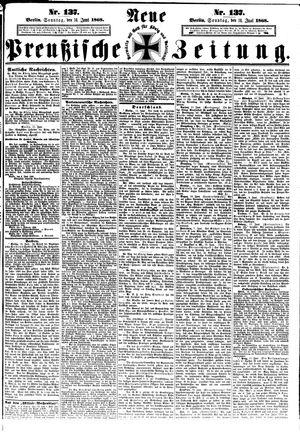 Neue preußische Zeitung vom 14.06.1868