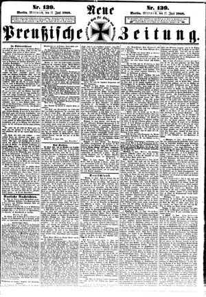 Neue preußische Zeitung vom 17.06.1868