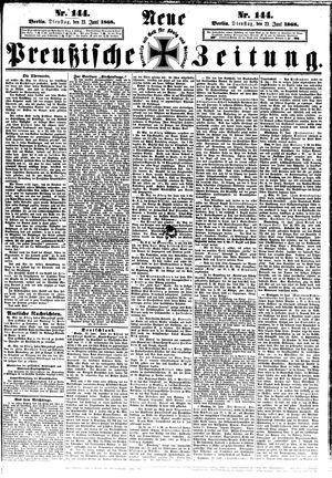 Neue preußische Zeitung vom 23.06.1868