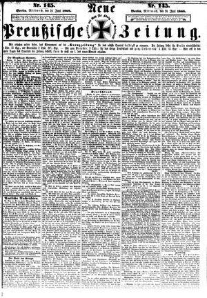 Neue preußische Zeitung vom 24.06.1868