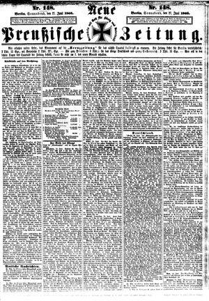 Neue preußische Zeitung vom 27.06.1868