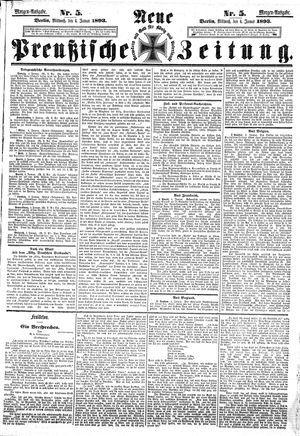 Neue preußische Zeitung vom 04.01.1893