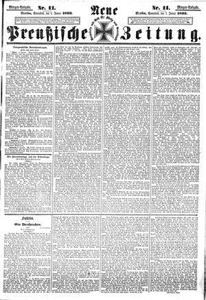 Neue preußische Zeitung on Jan 7, 1893