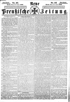 Neue preußische Zeitung vom 09.01.1893