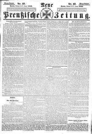 Neue preußische Zeitung vom 11.01.1893