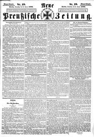 Neue preußische Zeitung vom 12.01.1893