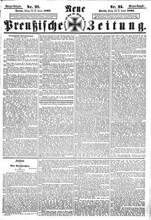 Neue preußische Zeitung vom 13.01.1893