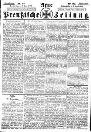 Neue preußische Zeitung vom 17.01.1893