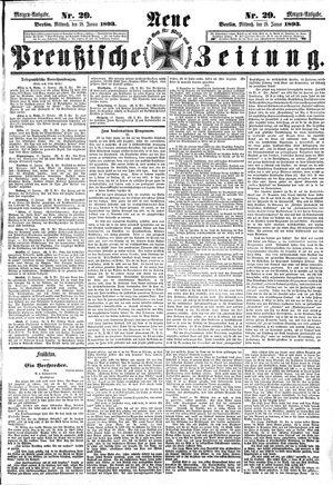 Neue preußische Zeitung vom 18.01.1893