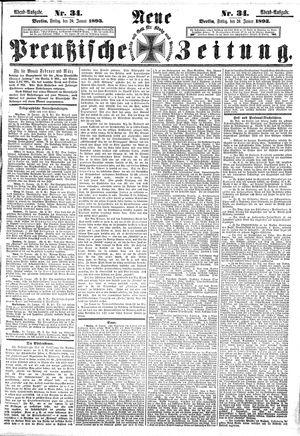 Neue preußische Zeitung vom 20.01.1893