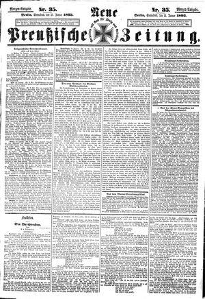 Neue preußische Zeitung vom 21.01.1893