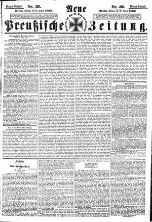 Neue preußische Zeitung vom 22.01.1893
