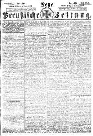 Neue preußische Zeitung vom 24.01.1893
