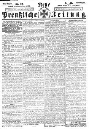 Neue preußische Zeitung vom 25.01.1893