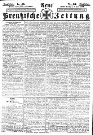 Neue preußische Zeitung vom 26.01.1893