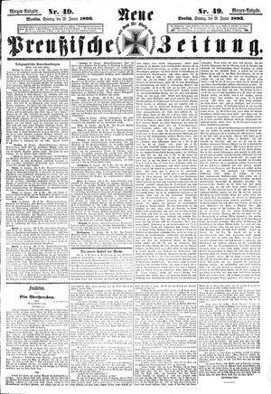 Neue preußische Zeitung vom 29.01.1893