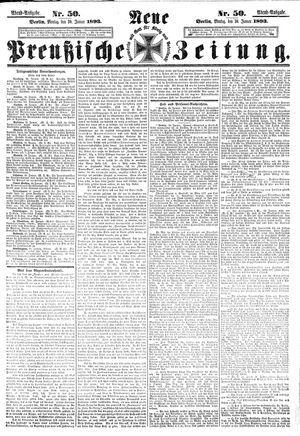 Neue preußische Zeitung vom 30.01.1893