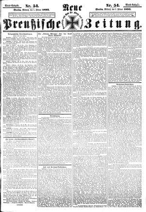 Neue preußische Zeitung on Feb 1, 1893