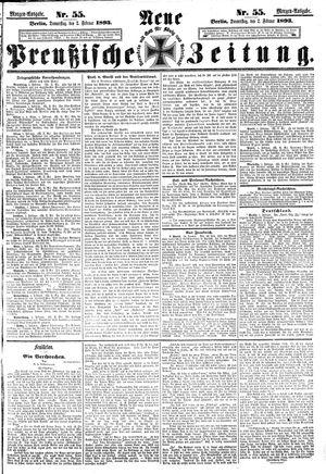Neue preußische Zeitung vom 02.02.1893