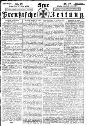 Neue preußische Zeitung vom 03.02.1893
